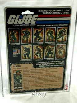 1982 GI Joe ARAH Ranger Stalker Figure 9 Back Cardback Graded AFA 85 Sealed
