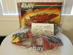 1985 GI Joe Cobra Moray Hydrofoil Boat withBox Sticker sheet Almost Complete