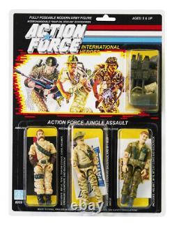 Action Force / GI Joe Jungle Assault Ambush, Recondo, Footloose MOC Carded