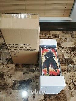 Cobra Commander Exclusive G. I. Joe SIDESHOW HOT TOYS 1/6 Scale 12 MIB