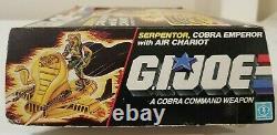 G. I. JOE SERPENTOR with'NEW SEALED BAGS AIR CHARIOT' in box. ARAH HASBRO 1986