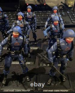 G I Joe 25th Cobra Trooper Red Mask Lot Of 12 POC 50th