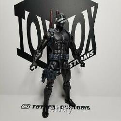 G. I. Joe Snake Eyes custom figure 6 inch scale Marvel Legends 112 scale