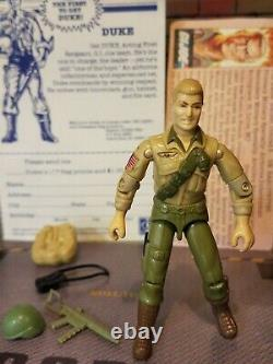 GI JOE 1984 DUKE UNCRACKED FIRST SERGEANT 100% & FILE MAIL IN with FLAG