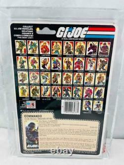 GI Joe 1985 AFA 85 V2 Snake Eyes with Timber Action Figure MOSC MOC 85/85/90
