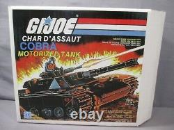 GI Joe CHAR D'ASSAUT COBRA MOTORIZED TANK BLACK MOBAT 1984 Canadian M. O. B. A. T