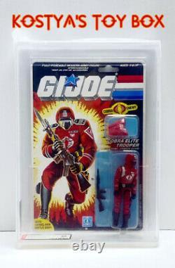 GI Joe Cobra CRIMSON GUARD 1985 MOC AFA 85 Vintage Factory Sealed Action Figure