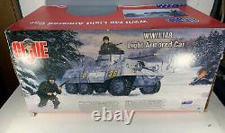 GI Joe Hasbro 1/6 scale ww2 m8 light armored car X2 12 inch action figures