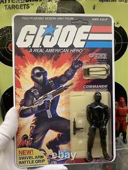 Gi Joe 1983 Snake Eyes Swivel Arm Mint Carded Lot A Beautiful L@@k V1.5