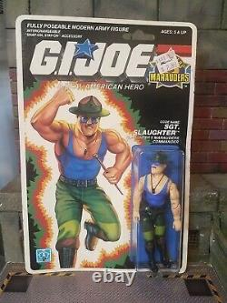 Gi Joe 1989 Sgt Slaughter Sealed High Grade Figure Uncracked Marauders