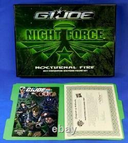 Gi Joe 2013 Joecon Figure Set Night Force Nocturnal Fire New