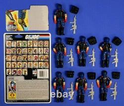 Gi Joe 7 Cobra Viper Figures Lot 1986 All Complete