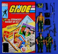 Gi Joe Comic Pack 26 Tommy, Storm Shadow, Snake Eyes Figures 2006 Complete
