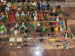 Large VTG 1980s G. I Joe Cobra Action Figures and Accessories Lot (77 figures)
