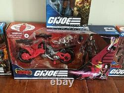Lof of 4 x G. I. Joe Classified Baroness, Viper, Major Bludd, and RoadBlock