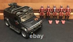 Lot G. I. Joe Cobra Crimson Guard Squad Leader 5 Figures with Steel Crusher Vehicle