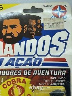 RARE 1986 Comandos Em Aco STEEL Cobra De MOC Estrela GI Joe arah VINTAGE afa MIP