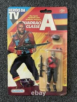 Rare 1983 MR. T a-team BA action figure MOC glasslite Argentina gi joe style