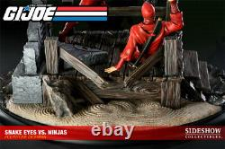 Sideshow G. I. Joe Snake Eyes Vs. Red Ninjas Polystone Diorama Exclusive Statue