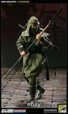Sideshow SDCC Exclusive Cobra Viper Green Ninja 1/6 Scale 12 GI Joe Figure