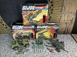 Vintage 1982 GI Joe Action Figure Lot & MIB Battle Series Vehicles Set & Weapons