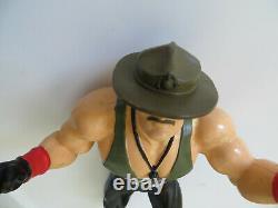Vintage 1987 LJN WWF WWE SGT. SLAUGHTER GI JOE Mail Away Figure Nr Mint Hasbro