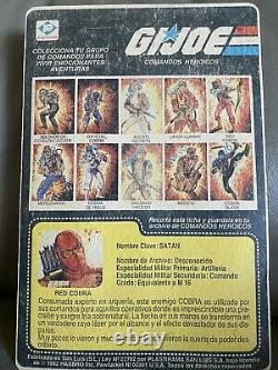 Vintage GI JOE RED COBRA Plastirama SATAN Argentina RED STORM SHADOW RARE MOC
