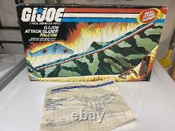 Vintage GI Joe ARAH Falcon Glider Box And Blueprints