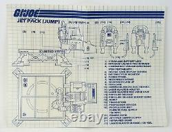 Vintage GI Joe Jump Jet Pack With Silver Grand Slam Complete With Box & Blue Print