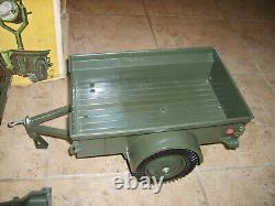 Vintage Gi Joe Jeep & Trailer In Very Good Condition 12 Figure Vehicle & Box