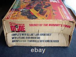 Vintage Gi Joe Secret of the Mummy's Tomb in Box with Land Adventurer Near Mint