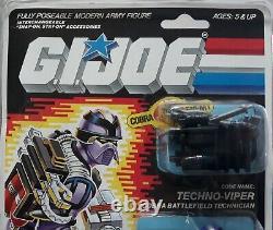 Vintage Hasbro 1986 Gi Joe Arah Cobra Techno-viper Moc 34 Back Clear Sealed