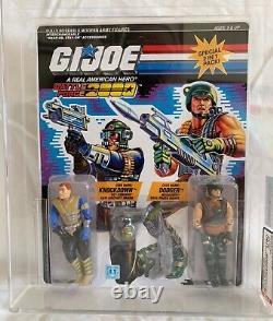 Vintage Hasbro GI Joe 1987 Battle Force 2000 Knockdown & Dodger MOC AFA U90