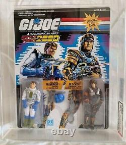 Vintage Hasbro GI Joe 1987 Battle Force 2000 Maverick and Blocker MOC AFA U90